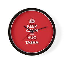 Hug Tasha Wall Clock