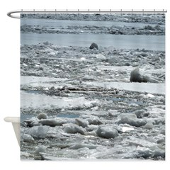 Ice On Hudson River Shower Curtain