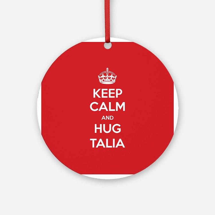 Hug Talia Ornament (Round)