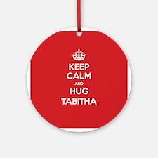 Hug Tabitha Ornament (Round)
