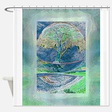 Misty Morning Meditation Shower Curtain