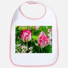 Pink Roses Bouquet Bib