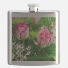 Pink Roses Bouquet Flask