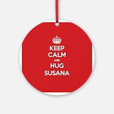 Hug Susana Ornament (Round)