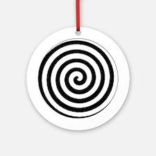 Hypnotic Spiral Ornament (Round)