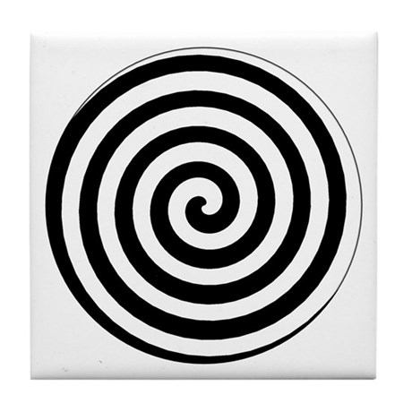 Hypnotic Spiral Tile Coaster