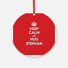 Hug Stephan Ornament (Round)
