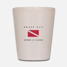 Grace Bay Turks and Caicos Dive Shot Glass