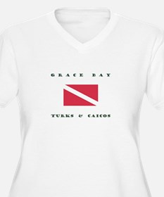 Grace Bay Turks and Caicos Dive Plus Size T-Shirt