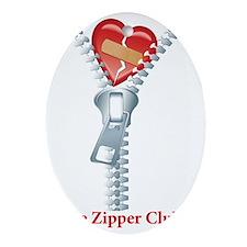 The Zipper Club Oval Ornament