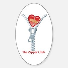 The Zipper Club Sticker (Oval)