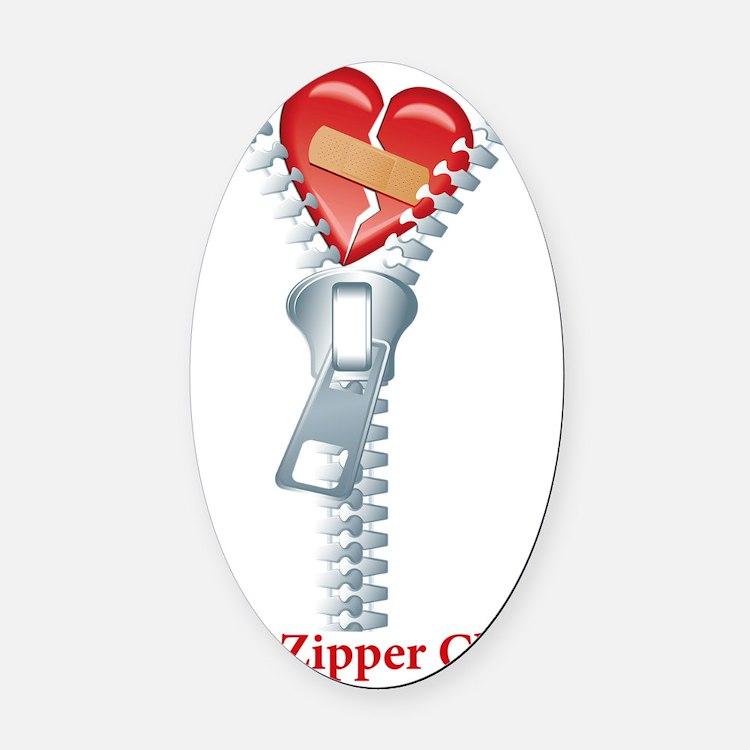 The Zipper Club Oval Car Magnet