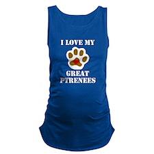 I Love My Great Pyrenees Maternity Tank Top
