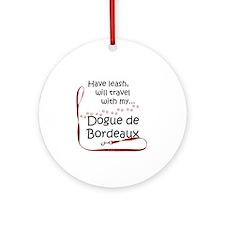 Dogue Travel Leash Ornament (Round)