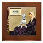 Mom's Bull Terrier (#1) Framed Tile