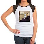 Mom's Bull Terrier (#1) Women's Cap Sleeve T-Shirt