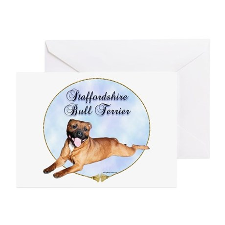Staffy Portrait Greeting Cards (Pk of 10)