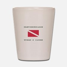 Providenciales Turks and Caicos Dive Shot Glass