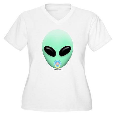 Baby Alien Women's Plus Size V-Neck T-Shirt