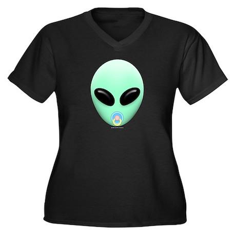 Baby Alien Women's Plus Size V-Neck Dark T-Shirt
