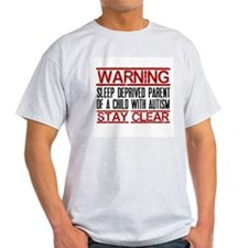 Warning Sleep Deprived Autism ParentRED T-Shirt
