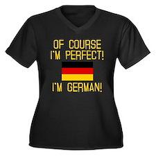 I'm Perfect Women's Plus Size V-Neck Dark T-Shirt