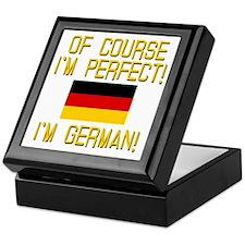 I'm Perfect I'm German Keepsake Box