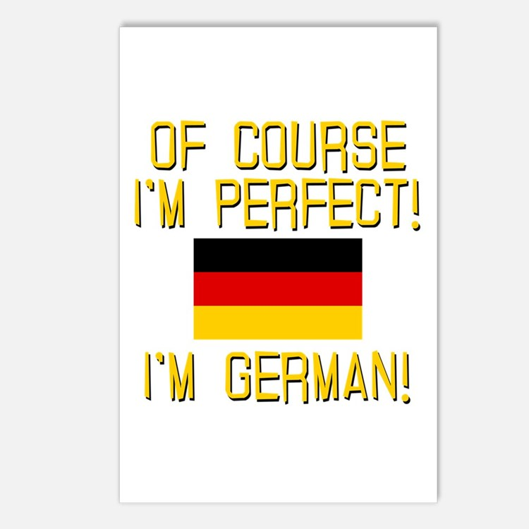 I'm Perfect I'm German Postcards (Package of 8)
