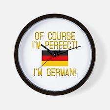 I'm Perfect I'm German Wall Clock