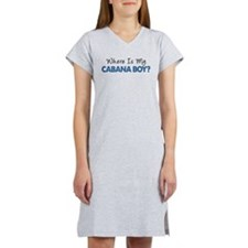 Where Is My Cabana Boy Women's Nightshirt