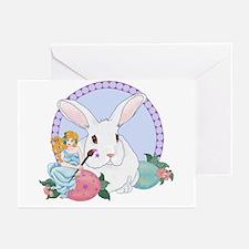 Easter Bunnys Helper Greeting Cards