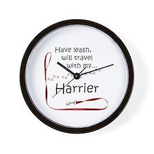 Harrier Travel Leash Wall Clock