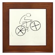 Bicycling.png Framed Tile