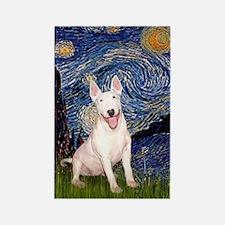 Starry/Bull Terrier (#4) Rectangle Magnet