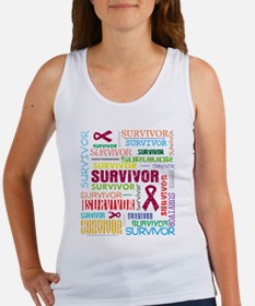 Brain Aneurysm Survivor Collage Tank Top
