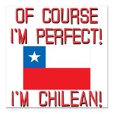 Chile Square Car Magnets