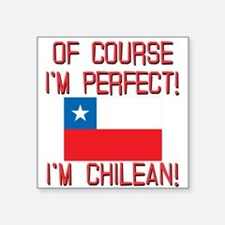 "Of Course Im Perfect Im Chi Square Sticker 3"" x 3"""