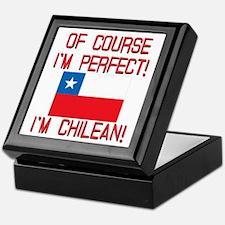 Of Course Im Perfect Im Chilean Keepsake Box