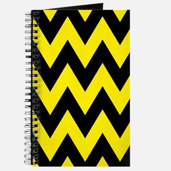 Yellow and Black Bumblebee Chevron Journal