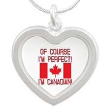 Of Course Im Perfect Im Cana Silver Heart Necklace