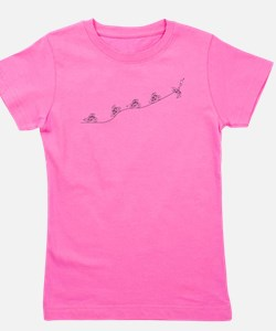 Over The Hill Cyclist Girl's Tee