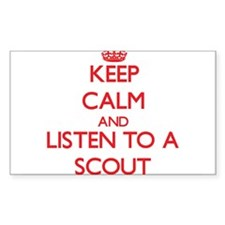 Keep Calm and Listen to a Scout Decal