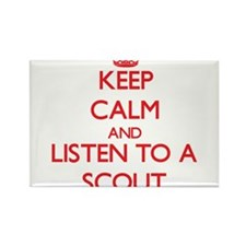 Keep Calm and Listen to a Scout Magnets