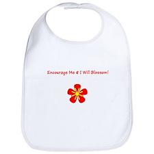 Autism Encourage Me I Will Blossom! Bib