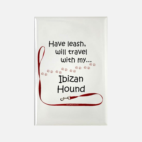 Ibizan Hound Travel Leash Rectangle Magnet