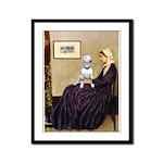 Mom's Bull Terrier (#1) Framed Panel Print