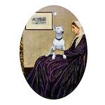 Mom's Bull Terrier (#1) Ornament (Oval)