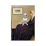Mom's Bull Terrier (#1) Rectangle Magnet (10 pack)