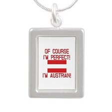 Of Course I'm Perfect, I Silver Portrait Necklace