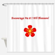 Autism Encourage Me &i Will Blossom Shower Cur